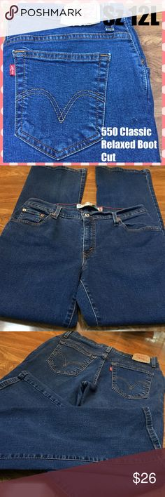 👖Levi's 550 NWOT Classic Relaxed Boot Cut. See measurement pics for sizing specifics. 2% spandex adds a little stretch. Levi's Jeans Boot Cut