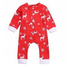 Christmas EVE Newborn Kids Baby Boys Girls Infant Romper Jumpsuit Red Clothes Outfit Sets(China (Mainland))