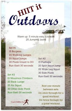 Exercise outdoor boot camp