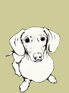 Hot Dog the Weiner Dog Print