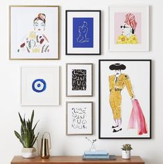 in partnership with custom art framing online service Framebridge are launching a collection of framed prints from five artists around the country. Frames On Wall, Framed Wall Art, Wall Art Prints, Framed Prints, Wall Of Art, Artwork Wall, Plakat Design, Decor Scandinavian, Inspiration Wall
