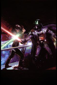 Star Wars - Darth Vader vs Luke by Tommy Lee Edwards
