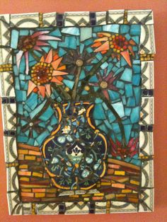Flowers in a Tuscan Vase  Mosaic      Eileen Palmer