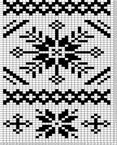 Tricksy Knitter Charts: Schneeflocke