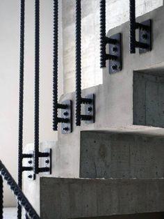 Staircase Railing Industrial Interior Design Ideas