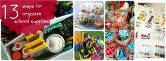 13 DIY ways to organize school supplies