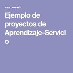 Ejemplo de proyectos de Aprendizaje-Servicio