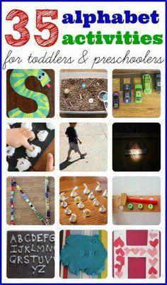 35+ Alphabet Activities for Toddlers & Preschoolers #homeschoolingfortoddlers