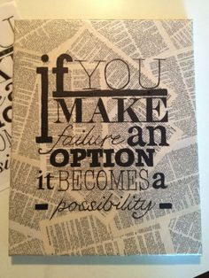 Painted Typography - make it  inspirational or humorous  or whatever - your choice ..... cool Instructable