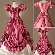 Cute Burgundy Bell Sleeve Southern Belle Lolita Ball Gown Dresses SKU-301022
