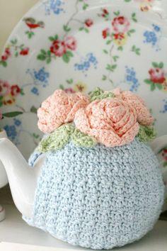 Crochet Rose Teacosy