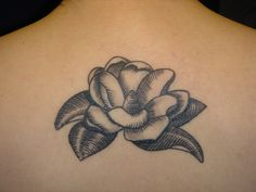 magnolia tattoo for sarah by laura spencer, via Flickr