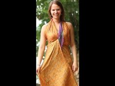 How To Make Dress Styles with a Sari Wrap Skirt || I've been looking for this for years! Lots of ways to wear a recycled sari layered wrap skirt