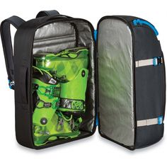 Dakine DLX Cargo Pack Features - Tarp lined ski or snowboard boot  compartment- Vertical snowboard carry- A-frame ski carry- Compression fd5744a674776
