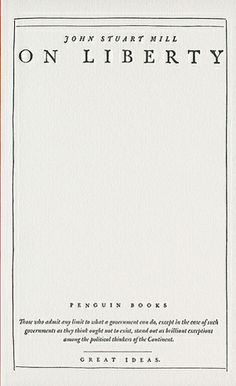 On Liberty by John Stuart Mill (designed by David Pearson)