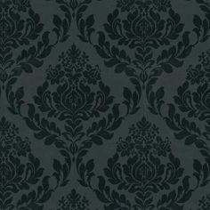 hd cream wallpaper: Black Damask Wallpaper