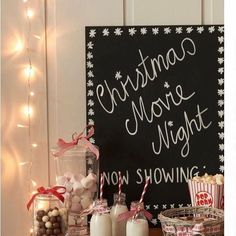 How cute is this idea for a holiday movie night?!?