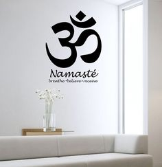 Om Wall Decal Sticker Art Decor Bedroom Design Mural Buddah namaste peace fitness love Large Om Symbol Vinyl home deocr by StateOfTheWall on Etsy https://www.etsy.com/listing/219383036/om-wall-decal-sticker-art-decor-bedroom