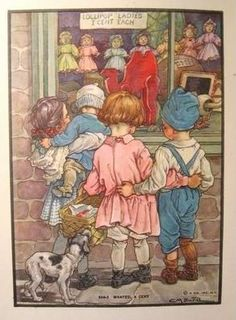"Clara M. Burd ,artist....""Flora's Fairy Forget me not"" illustration."