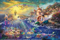 ok... now i have to take out a loan to get this... always said if Thomas Kincade made a lil mermaid pic i was gonna HAVE to get it!!!!!!!