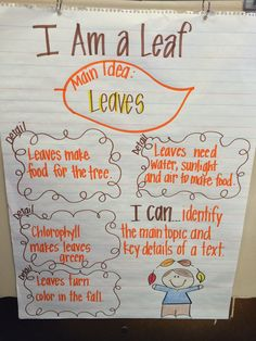 main idea and supporting details--could connect with science lesson! First Grade Writing, First Grade Reading, Readers Workshop, Writer Workshop, Teaching Reading, Teaching Tools, Teaching Ideas, Guided Reading, Reading Lessons