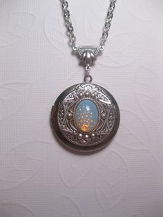 Ancient Star Locket Opal Necklace by FashionCrashJewelry on Etsy, $29.50