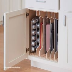 Fall Home Decor Kitchen Cabinet Organizers: DIY Dividers Adjustable slots organize cookware for .Fall Home Decor Kitchen Cabinet Organizers: DIY Dividers Adjustable slots organize cookware for Diy Kitchen Storage, Diy Kitchen Cabinets, Kitchen Cabinet Organization, Home Decor Kitchen, Storage Cabinets, Kitchen Furniture, Cabinet Drawers, Kitchen Ideas, Kitchen Organizers