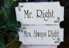 photos of cute wedding signs | cute signs