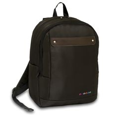 Carry your laptop comfortably with the Jworld Beetle Laptop Backpack. This backpack features a cushioned S-shaped shoulder pad, air mesh cushioned back, front utility pocket with organizer, and laptop sleeve. Canvas Backpack, Laptop Backpack, Black Backpack, Travel Backpack, Sling Backpack, Brown Backpacks, Notebook Laptop, Shoulder Pads, Shoulder Straps