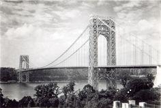 George Washington Bridge Vintage Digital Image