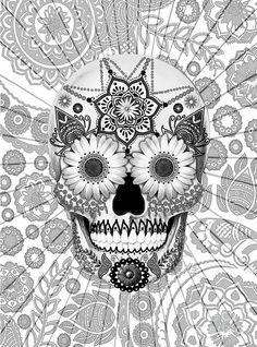 skull paintings - Buscar con Google