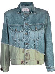 a13e9deb54 GREG LAUREN GREG LAUREN DENIM CONTRAST JACKET - BLUE. #greglauren #cloth