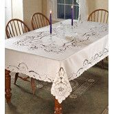 Found it at Wayfair - Sapphire Embroidered Tablecloth