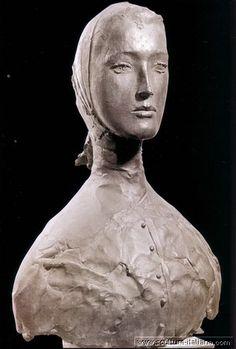 MANZU Giacomo Manzoni - Italian (1908-1991) ~ Busto di Inge (1960)