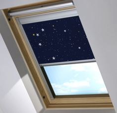 Bloc Blinds Skylight Blackout Blind in Night Sky....perfect for a nursery or young child's room.