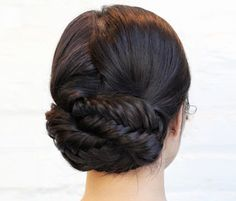7 Great Gym-to-Street Hairstyles//Looped Fishtail Braids c Courtesy of Refinery29