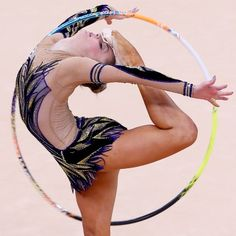 Rhythmic Gymnastics Chrystalleni Trikomiti of Cyprus competes during the individula all-around qualification match of Gymnastics Rhythmic at London 2012 Olympic Games, in London, on Aug. 9, 2012.