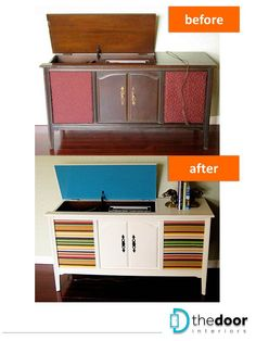 Makeover of an old stereo cabinet: http://on.fb.me/Zji2Bk