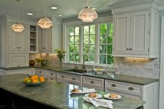 kitchens with white cabinets and granite countertops   White Kitchen Cabinets With Granite Countertops   Kitchen Installation