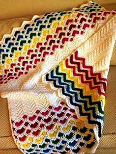 It is a website for handmade creations,with free patterns for croshet and knitting , in many techniques & designs. Diy Crafts Crochet, Crochet Art, Yarn Crafts, Crochet Projects, Oversize Knit Blanket, Knitted Blankets, Kids Blankets, Chevron Baby Blankets, Baby Blanket Crochet