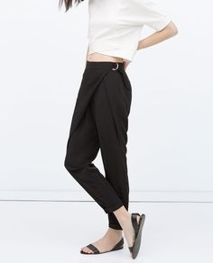 WRAPAROUND FRONT TROUSERS-View all-Trousers-WOMAN | ZARA United States