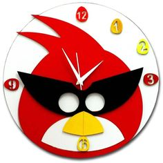 bird clock | Home-and-You-Funky-Bird-Wall-Clock-Red-4780.jpg