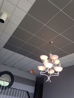 Accented Ceiling - hand painted acoustical drop-ceiling  tile                                                                                                                                                                                 More
