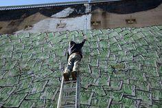 Blu - The money shark - Barcelona, February 2009