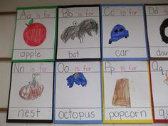Kid-made abc's for the classroom!