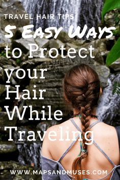 Traveling can be tough on your hair! Here are my top travel hair tips and 5 ways you can protect your hair while traveling. Traveling can be tough on your hair! Here are my top travel hair tips and 5 ways you can protect your hair while traveling. Best Beauty Tips, Beauty Hacks, Beauty Essentials, Travel Hairstyles, Easy Hairstyles, Packing Tips For Travel, Travel Hacks, Travel Plan, Travel Guides