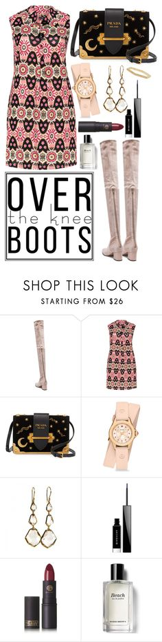 """""""Over the knee boots"""" by jessica-hearts ❤ liked on Polyvore featuring Samya, Prada, Michele, Ippolita, Givenchy, Lipstick Queen, Bobbi Brown Cosmetics and Sydney Evan"""