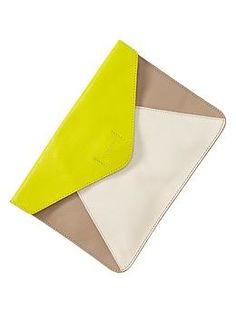 Gap colorblock clutch $39