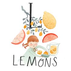 More food alphabet! The letter I was by far the hardest to find a food for. Fruit Illustration, Food Illustrations, Food Alphabet, Baby Club, Le Jolie, For Love And Lemons, Custom Logos, Creative Inspiration, Art Girl