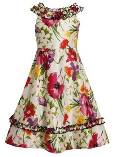 Size-7, Multi, BNJ-8574R, Multicolor Floral Print Ruffle Neckline Shantung Dress,Bonnie Jean Tween Girls Special Occasion Flower Girl Party Dress Bonnie Jean,http://www.amazon.com/dp/B00BLY2NDG/ref=cm_sw_r_pi_dp_wn7lrb1XB81AN8GH
